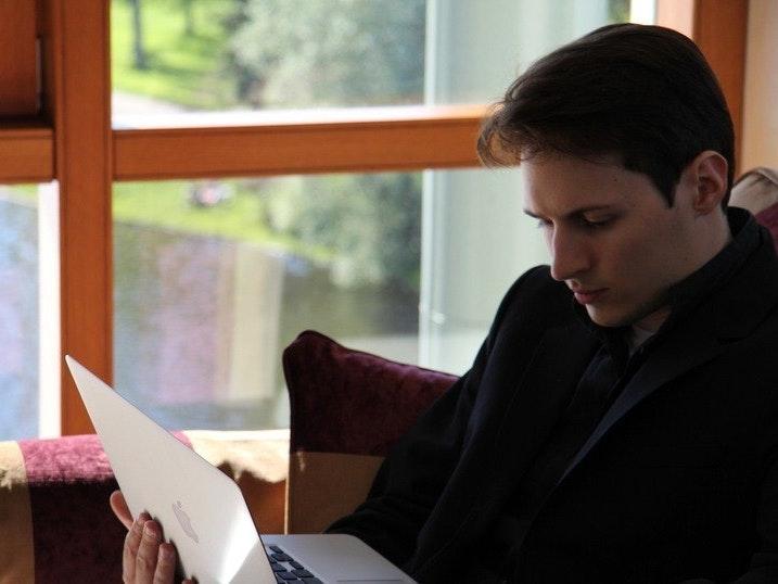 Pavel Durov at work.