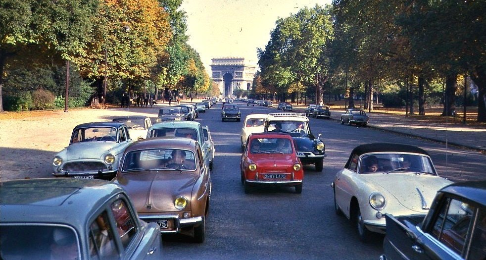 In Paris, banned from driving on diesel cars, and all public transport became free