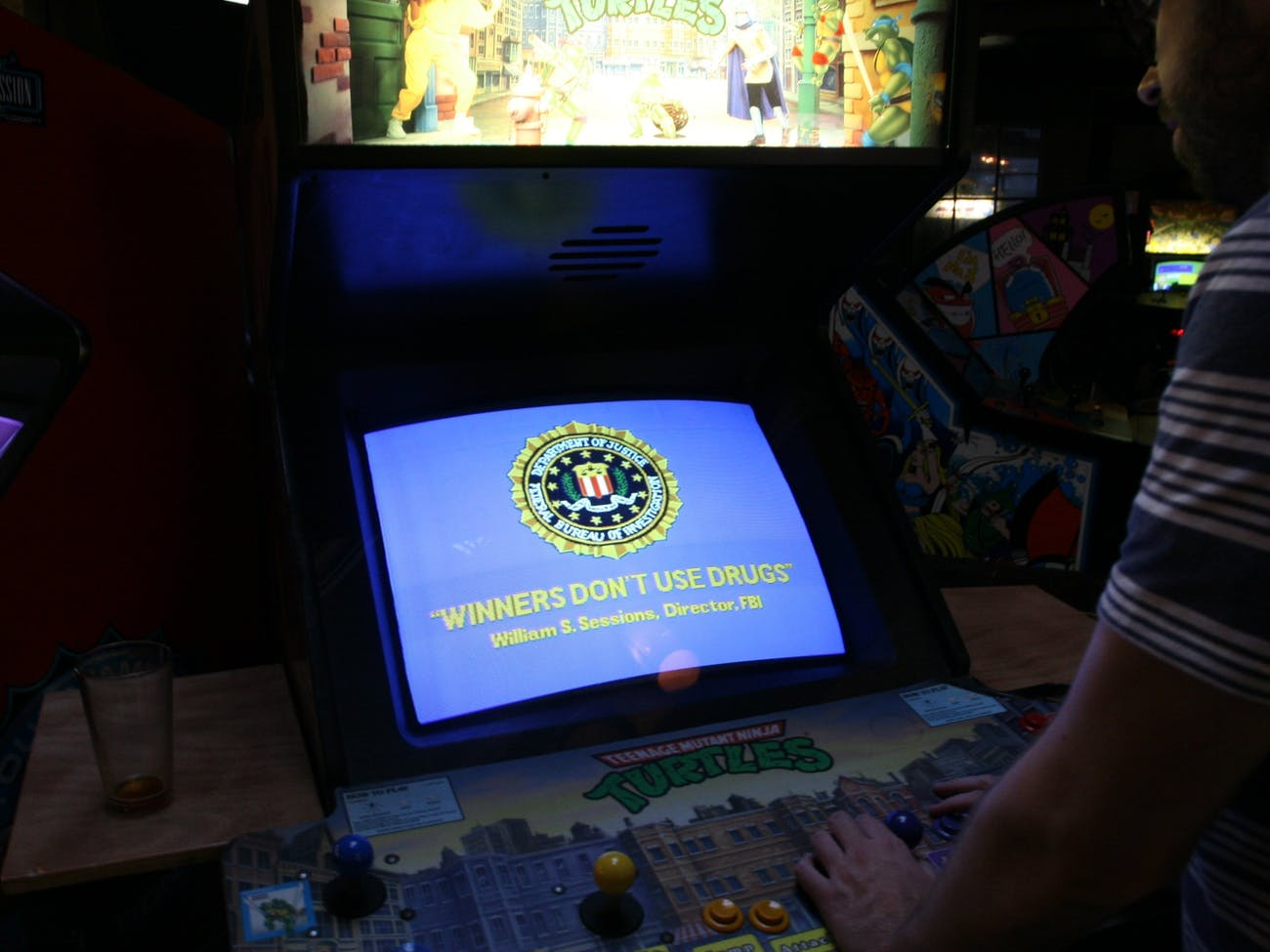 How the F B I  Made 'Winners Don't Use Drugs' the Arcade