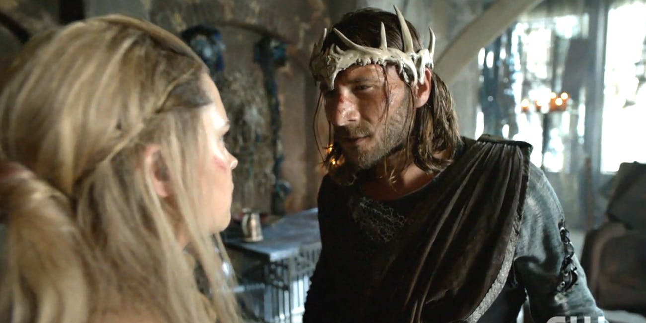 Clarke Griffin and King Roan on 'The 100' Season 4
