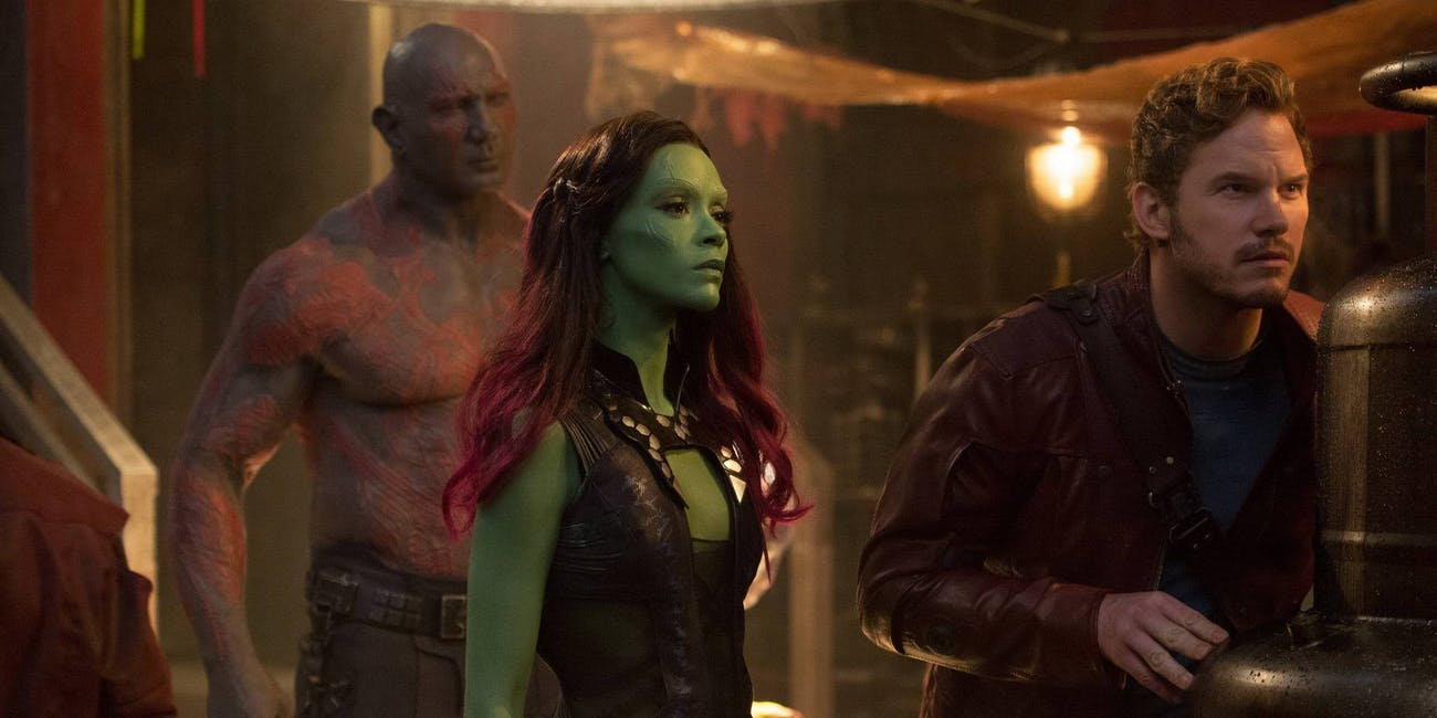 Drax, Gamora, and Star-Lord in 'Guardians of the Galaxy vol. 1'.