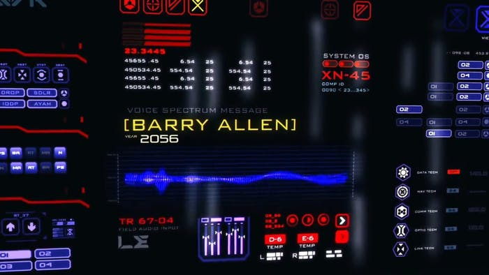 The message found on the 'Waverider' is from Barry in 2056.