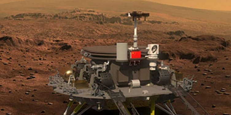 Artist's rendering of China's proposed Mars mission technology.