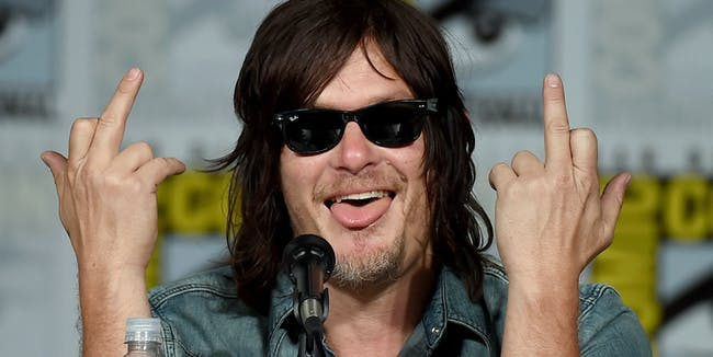 SAN DIEGO, CA - JULY 11:  (EDITORS NOTE: Image contains profanity.) Actor Norman Reedus attends the TV Guide Magazine: Fan Favorites panel during Comic-Con International 2015 at the San Diego Convention Center on July 11, 2015 in San Diego, California.  (Photo by Ethan Miller/Getty Images)
