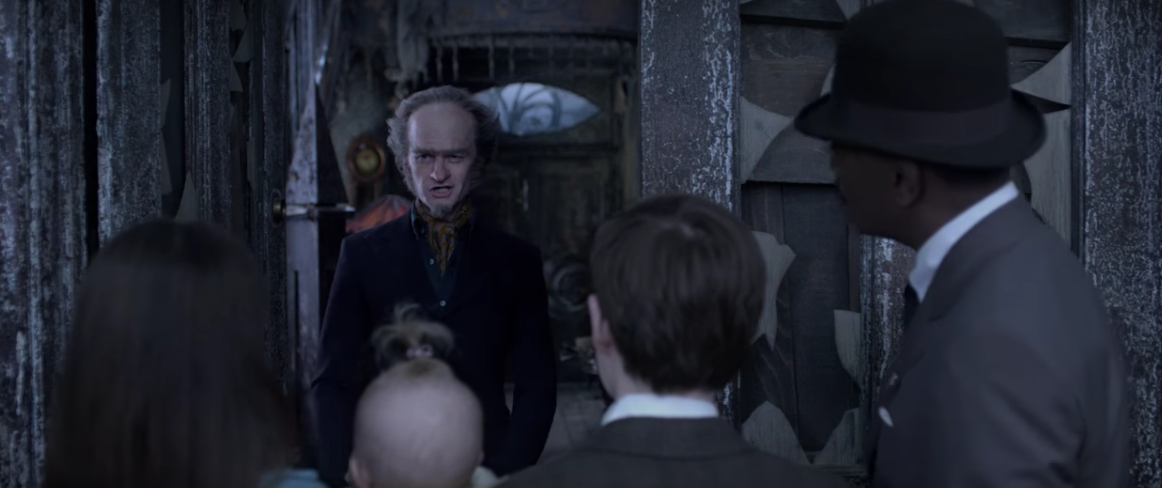 Count Olaf welcomes the Baudelaire orphans