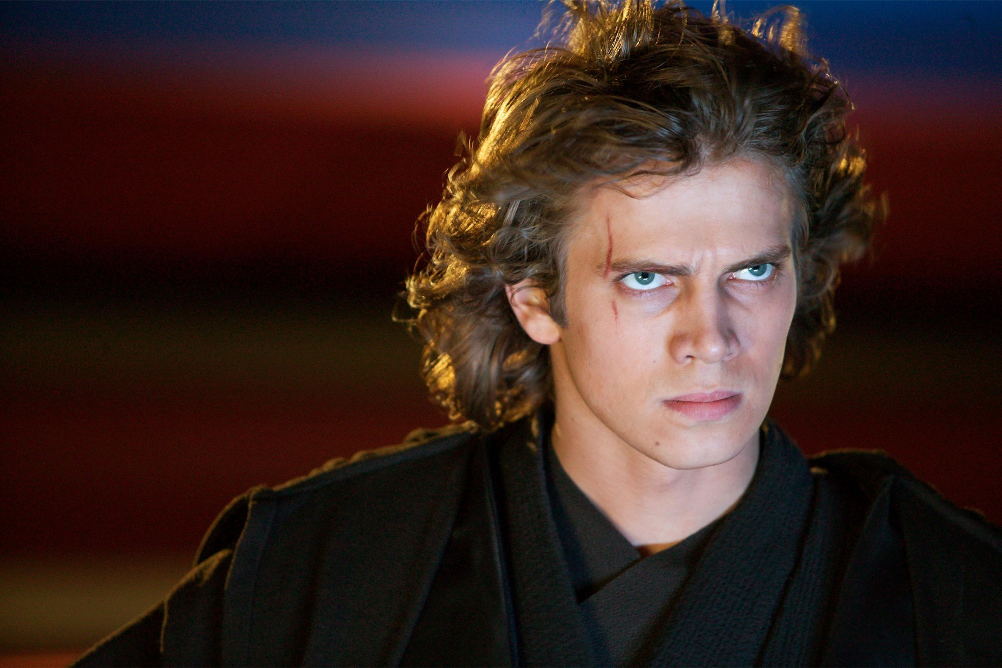 Anakin Skywalker, Kylo Ren's grandfather and Dark side role model, also had a defining scar on his face.