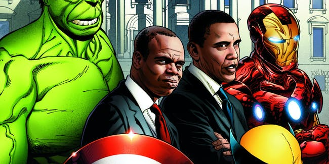 Joe Quesada's original work for President Obama, dated 2011.