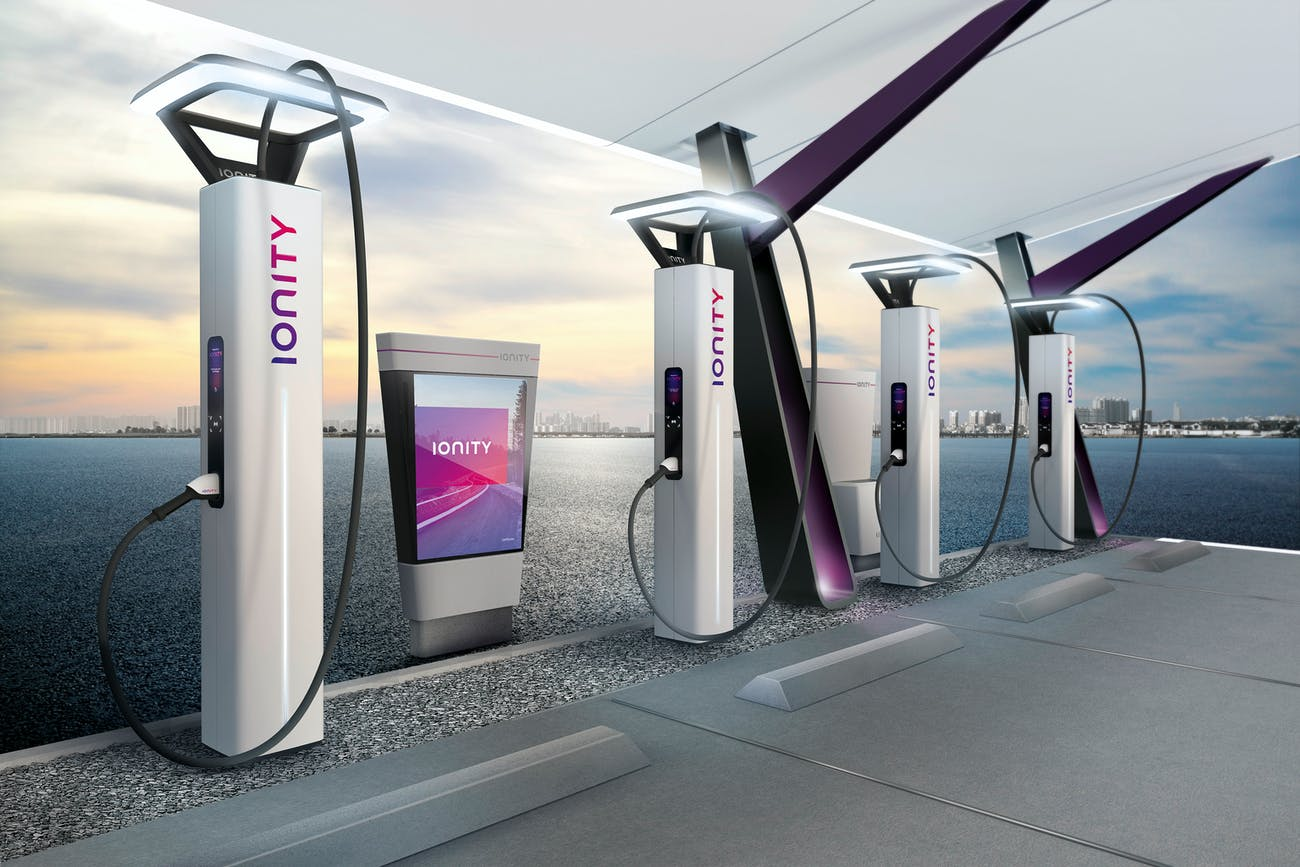 Ionity's concept design for its future chargers.
