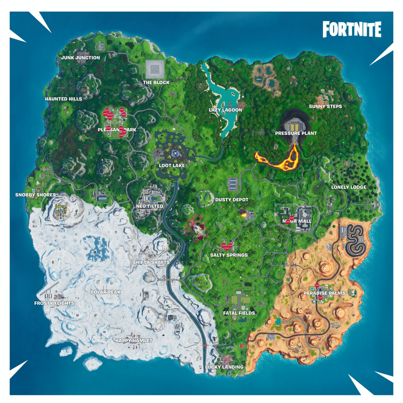 fortnite stop signs maps