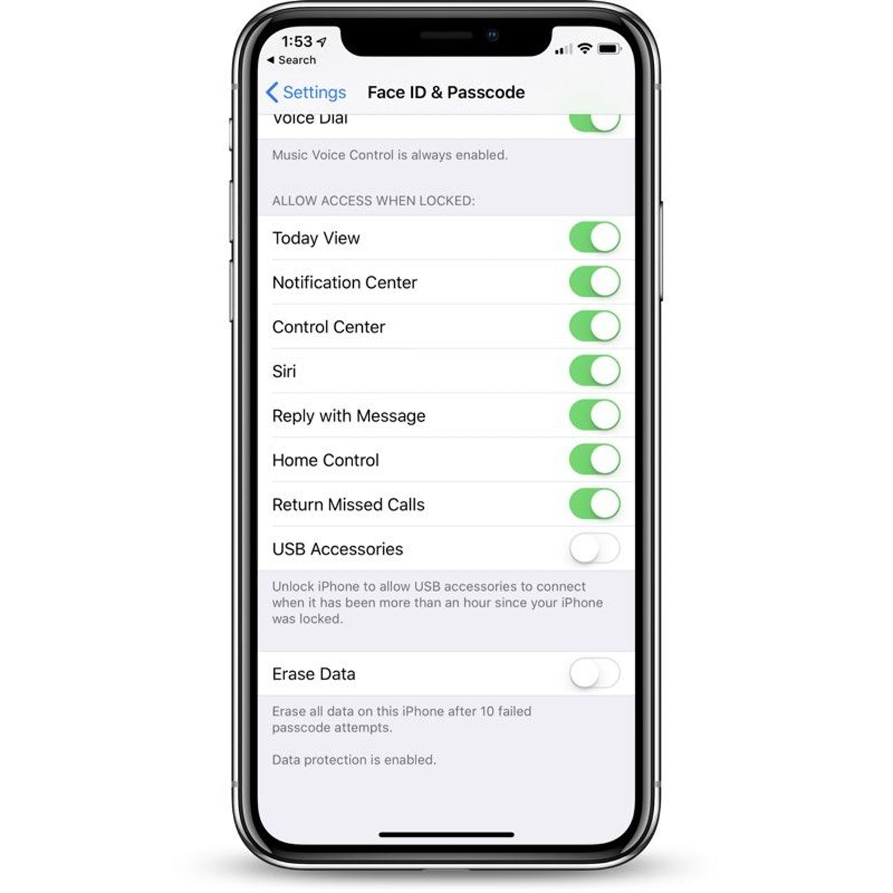 apple ios usb restricted mode security
