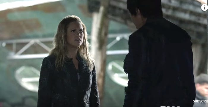 Eliza Taylor and Christopher Larkin