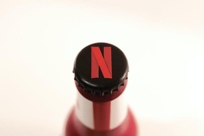 Even the bottle caps were given a Netflix logo.
