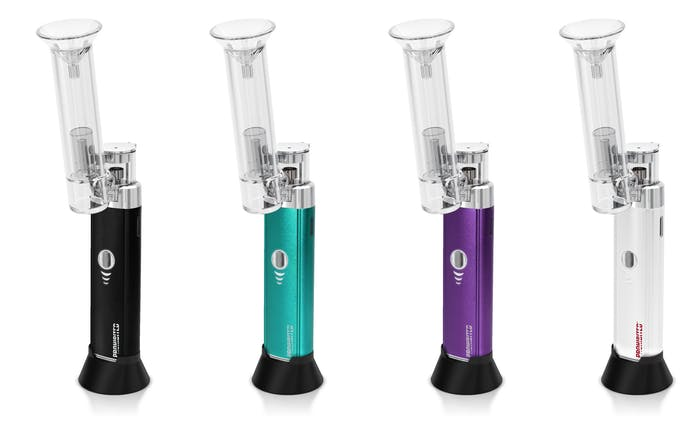 The E-Rig Cartridge Kit includes a glass water bubbler.