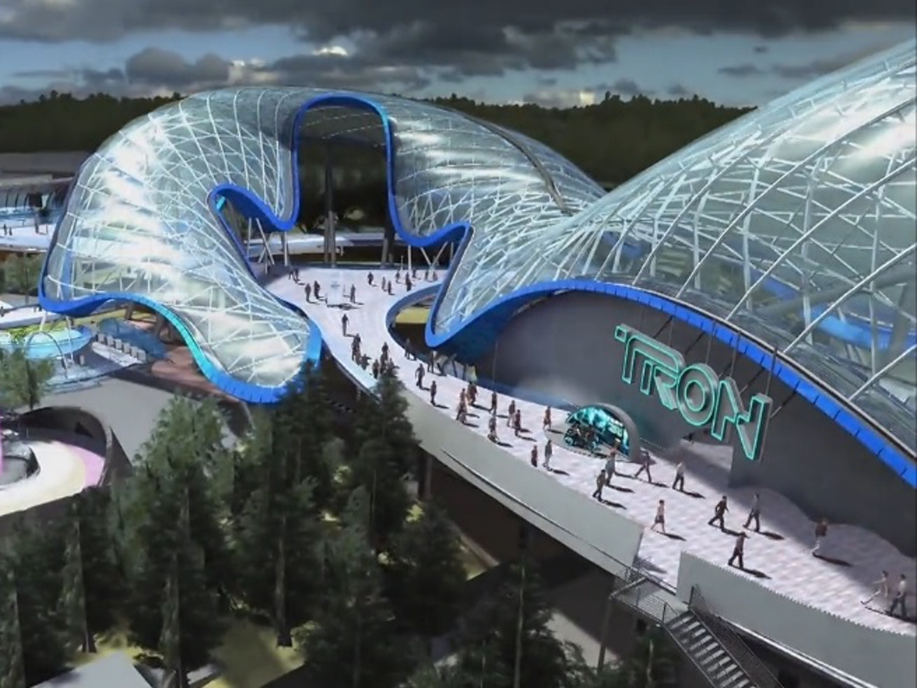 Five Star Auto Sales >> Ride The 'TRON' Lightcycle At Disneyland Shanghai | Inverse
