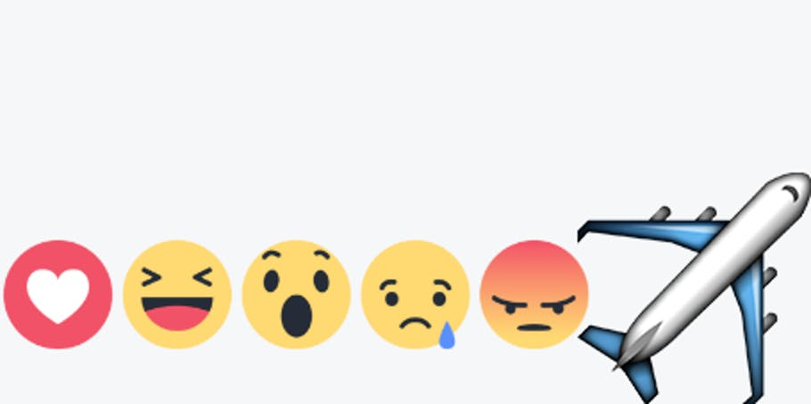 Facebook plane reaction.