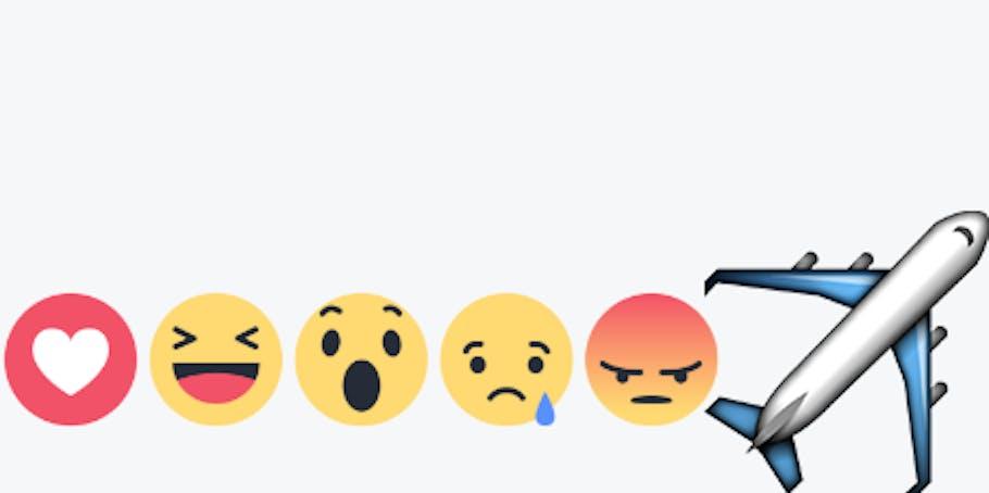 Facebook plane reaction.
