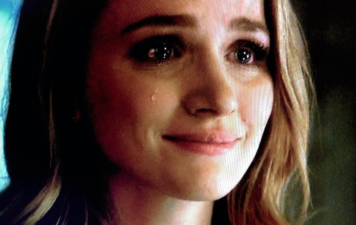 """Patty Spivot cries over Barry not admitting he's The Flash, on the CW show """"The Flash."""""""