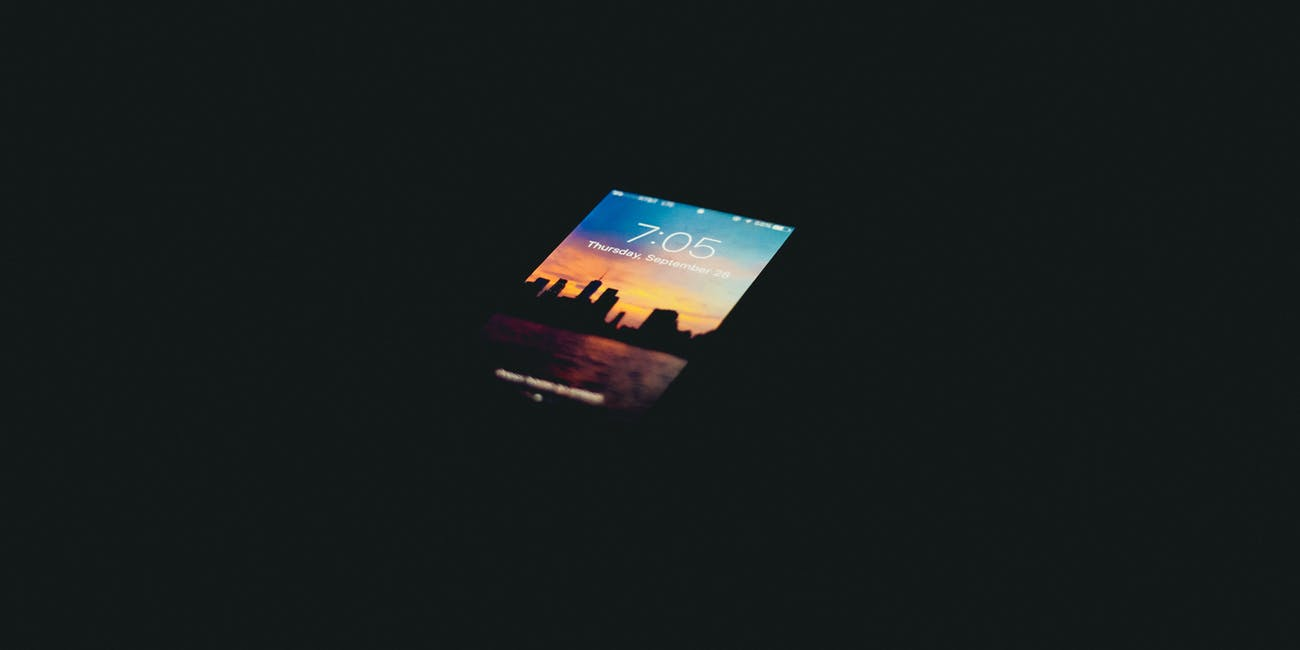 iPhone in a dark room