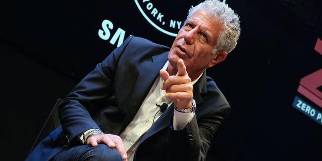 Anthony Bourdain is not impressed with a news hoax claiming CNN broadcast porn during his Thanksgiving show.