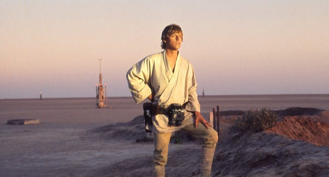Luke Skywalker in 'Star Wars'