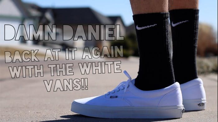 Go with some white Vans.