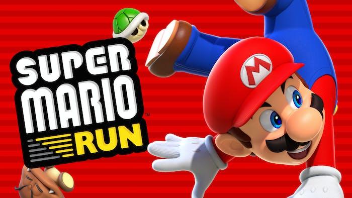 Even the 'Super Mario Run' logo is adorable.