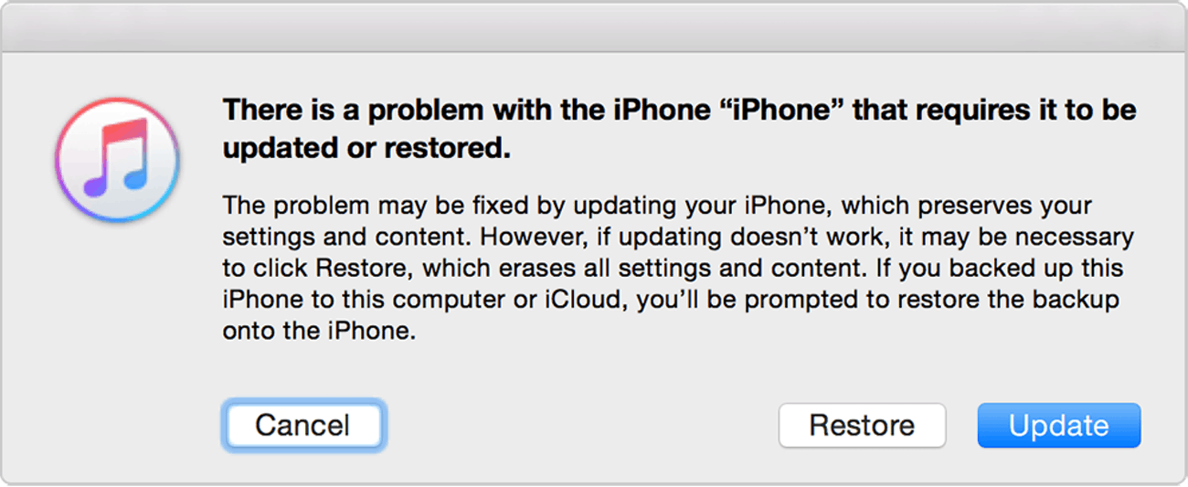 apple itunes iphone recovery mode