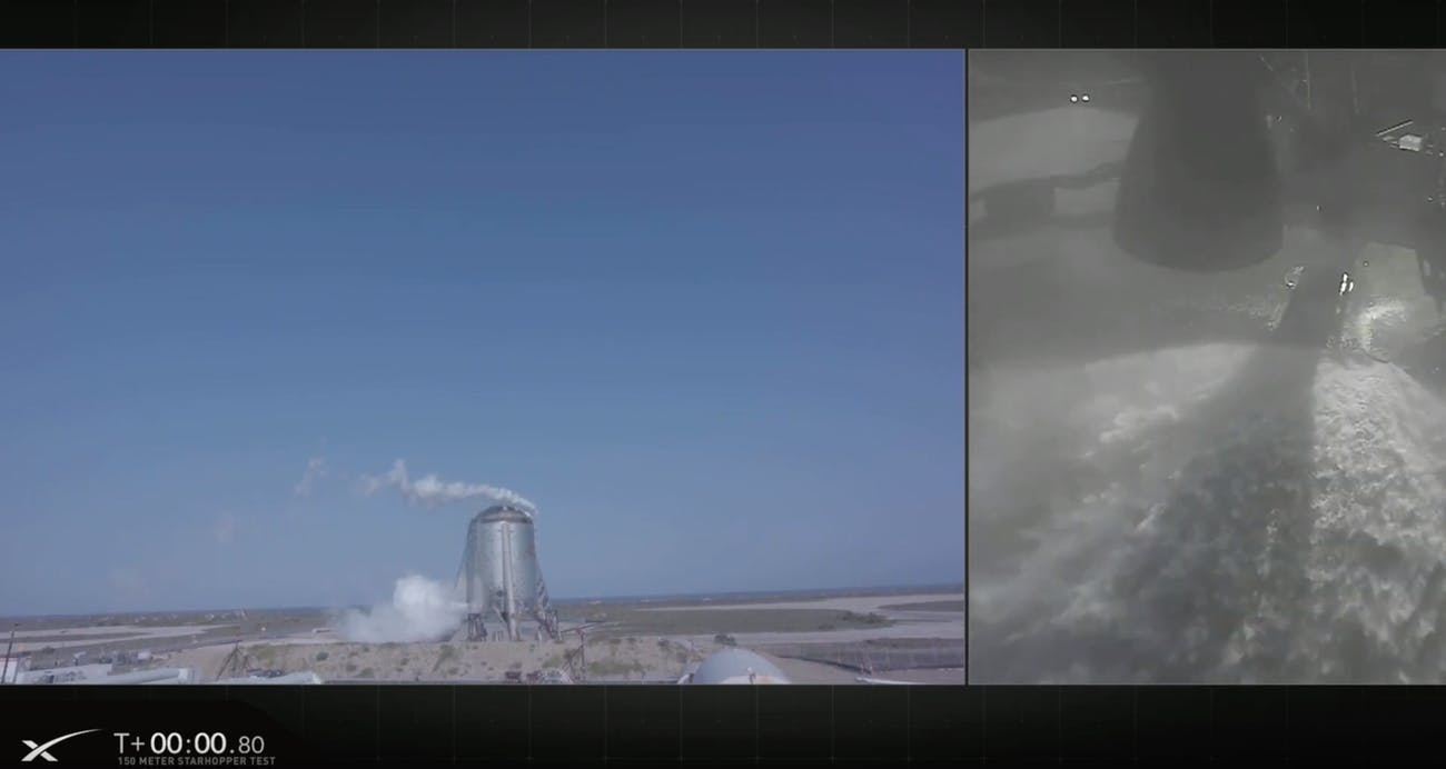 SpaceX's paused Starhopper test.