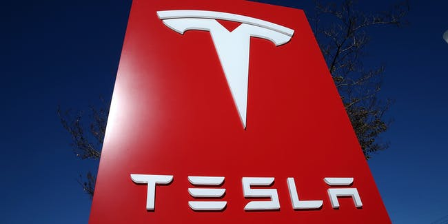 PALO ALTO, CA - NOVEMBER 05: A sign is posted at a Tesla showroom on November 5, 2013 in Palo Alto, California. Tesla will report third quarter earnings today after the closing bell. (Photo by Justin Sullivan/Getty Images)