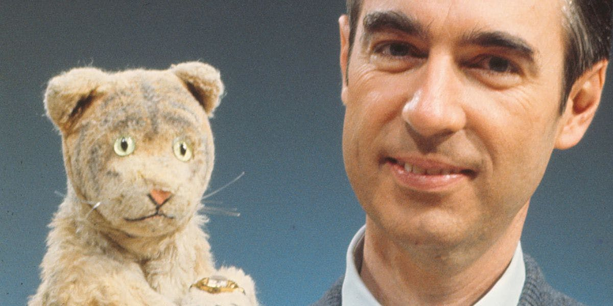 Daniel Tiger and Mister Rogers.