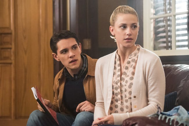 Casey Cott as Kevin Keller and Lili Reinhart as Betty Cooper