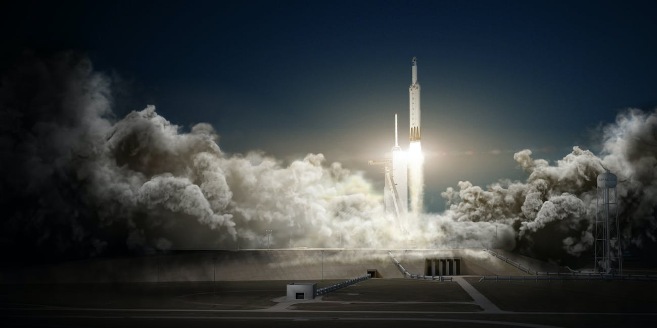 Concept art for the Falcon Heavy