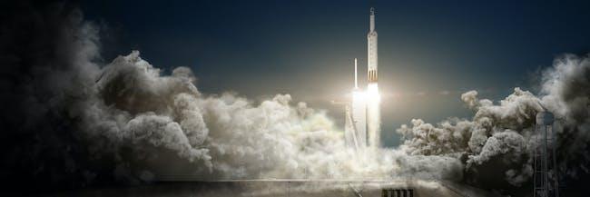 Concept art for the Falcon Heavy