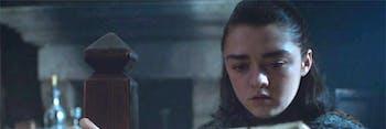 Maisie Williams as Arya Stark in 'Eastwatch'