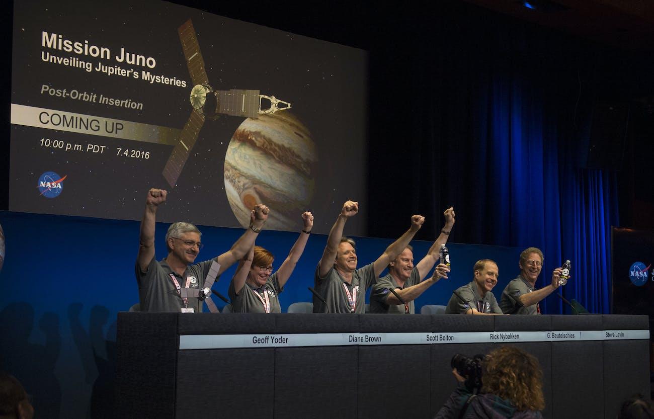 Juno Team July 4 Jupiter