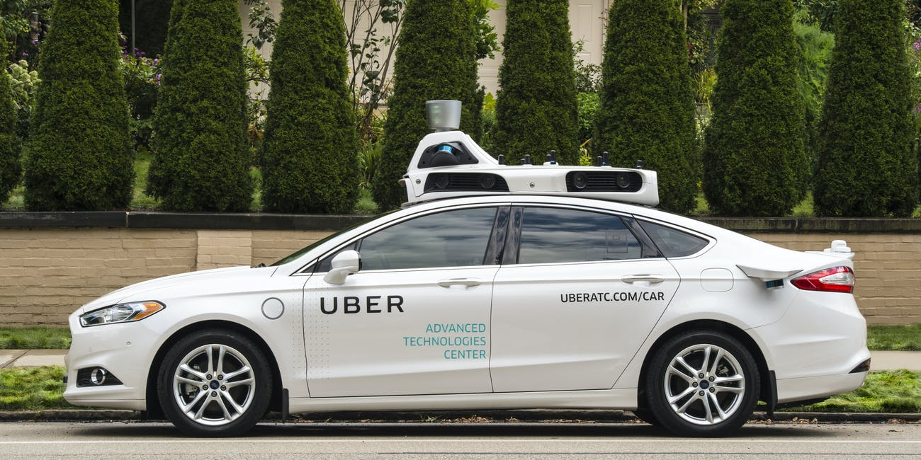 Uber's Advanced Technologies Center shows off a self-driving vehicle in Pittsburgh.
