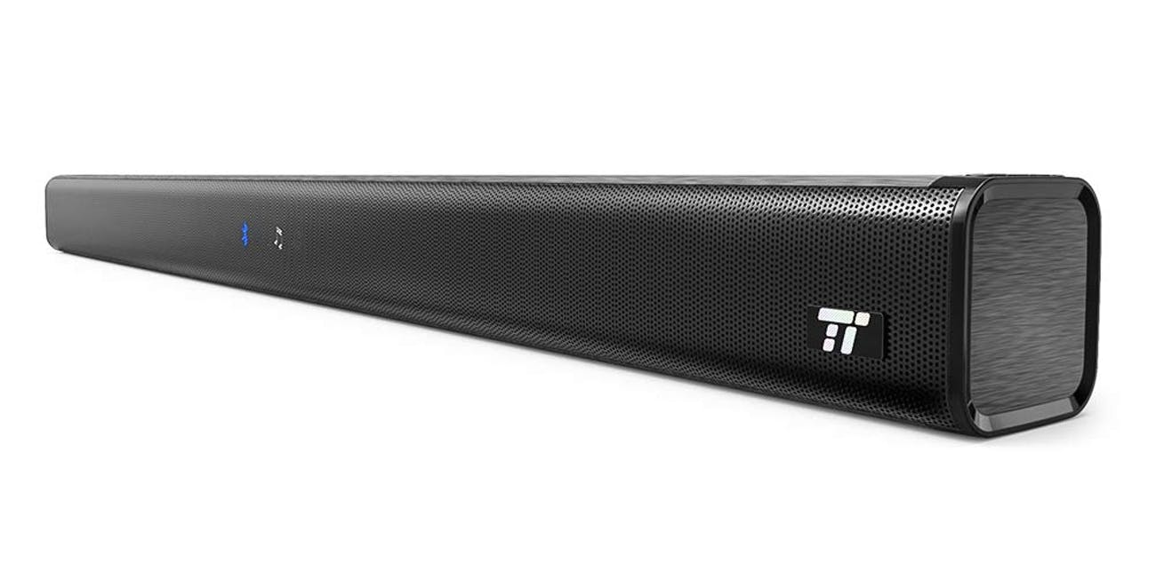 Soundbar, TaoTronics Three Equalizer Mode Audio Speaker for TV, 32-Inch Wired & Wireless Bluetooth 4.2 Stereo Soundbar, Optical/Aux/RCA Connection, Wall Mountable, Remote Control