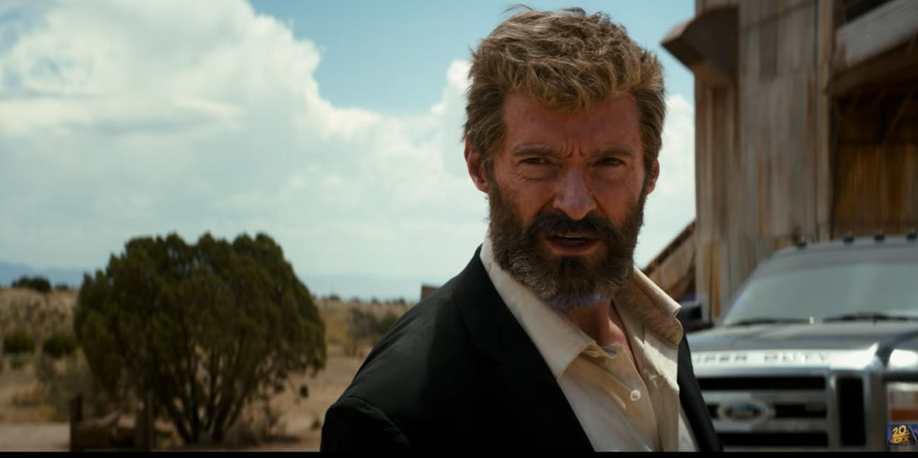 Hugh Jackman as Wolverine in 'Logan'