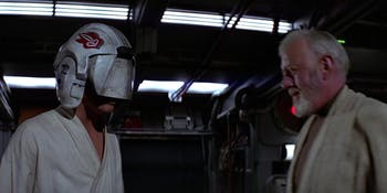 Remember how Luke learned to fight blind?