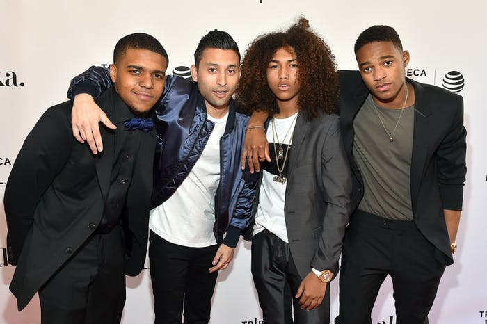 NEW YORK, NY - APRIL 14:  Christopher Jordan Wallace, Justin Tipping, Jahking Guillory and Christopher Meyer attend 'Kicks' Premiere - 2016 Tribeca Film Festival at SVA Theatre 2 on April 14, 2016 in New York City.  (Photo by Ben Gabbe/Getty Images for Tribeca Film Festival)