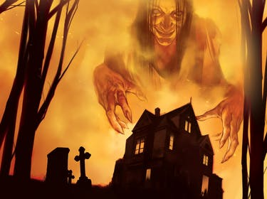 'Betrayal at House on the Hill' expansion 'Widow's Walk' box art.