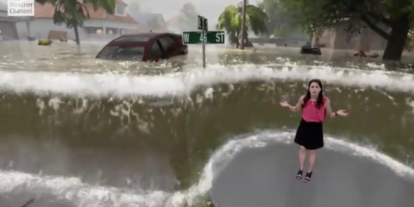 How the Tech in the Viral Weather Channel Graphic Will Change Newscasting