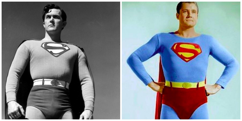 Kirk Alyn or George Reeves? Alyn (left) has the bigger bulge by a mile