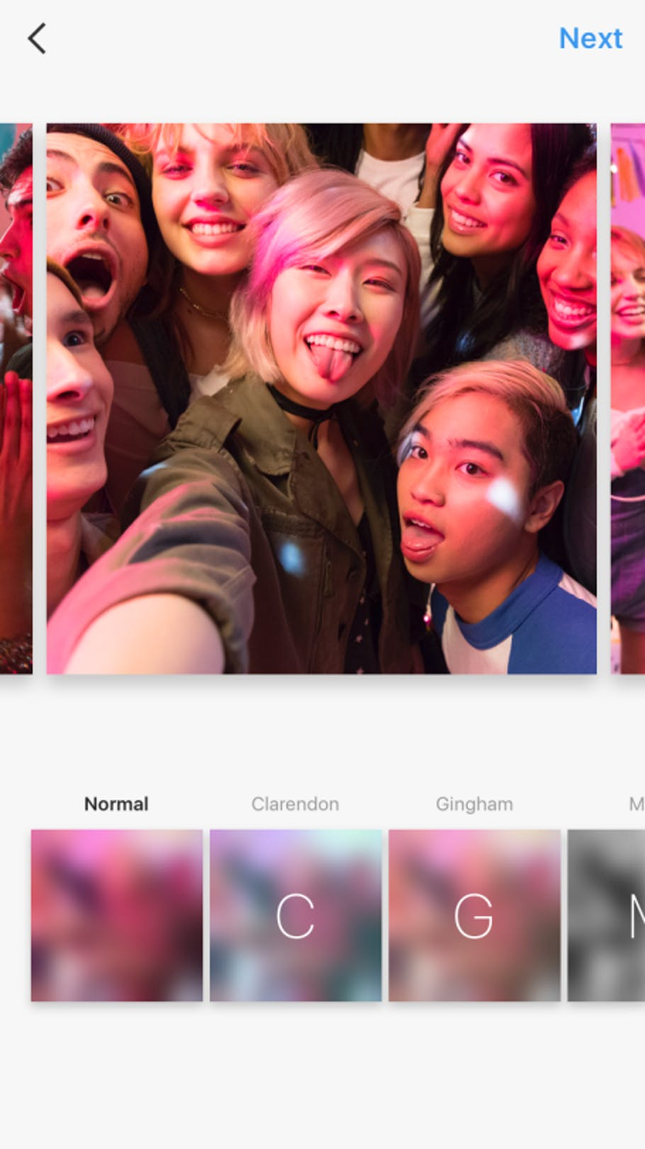 Instagram's new slideshow feature allows users to post 10 pictures at a time.