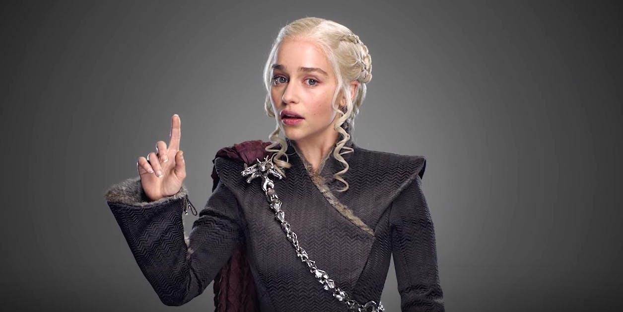 Emilia Clarke as Queen Daenerys Targaryen in 'Game of Thrones' Season 7