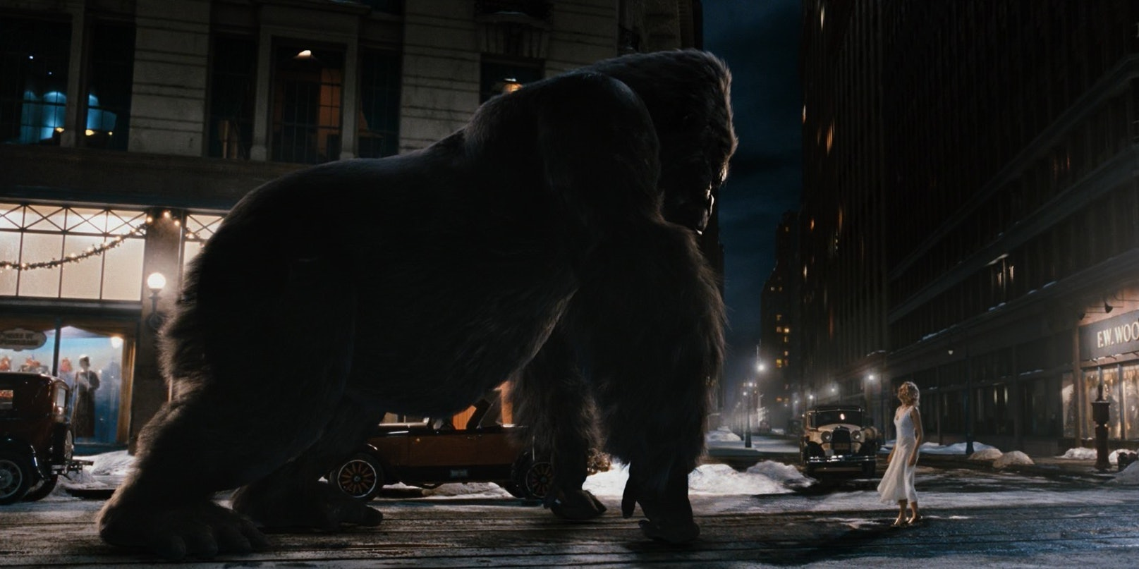 Weta Digital's completely CG King Kong, a stand-out digital character, and one for which the studio was awarded an Academy Award for Best Visual Effects.