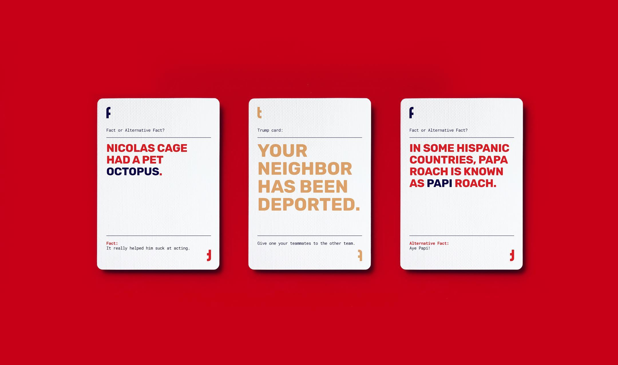The Alternative Facts Card Game is now for sale.