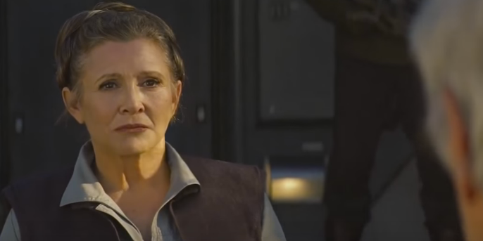 General Leia in 'Star Wars: The Force Awakens'