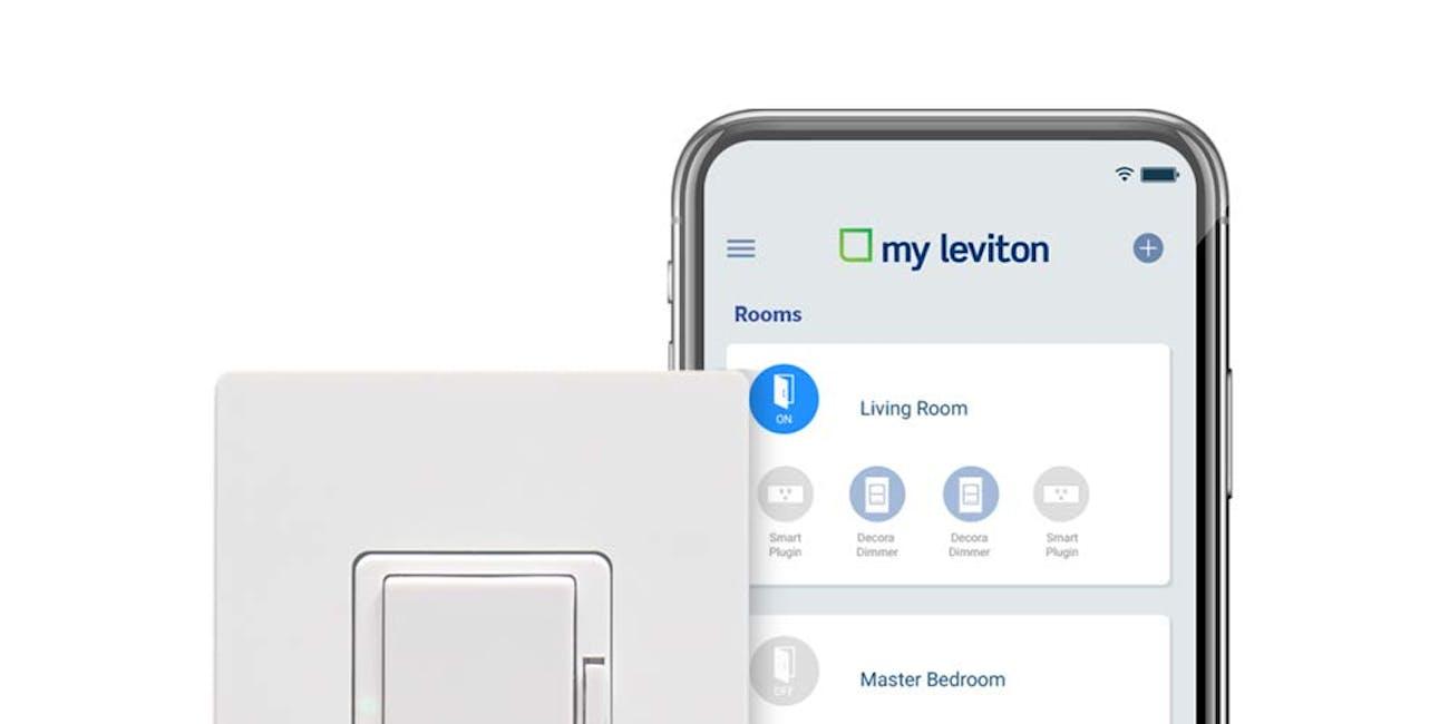 Leviton DW6HD-1BZ Decora Smart Wi-Fi 600W Incandescent/300W LED Dimmer