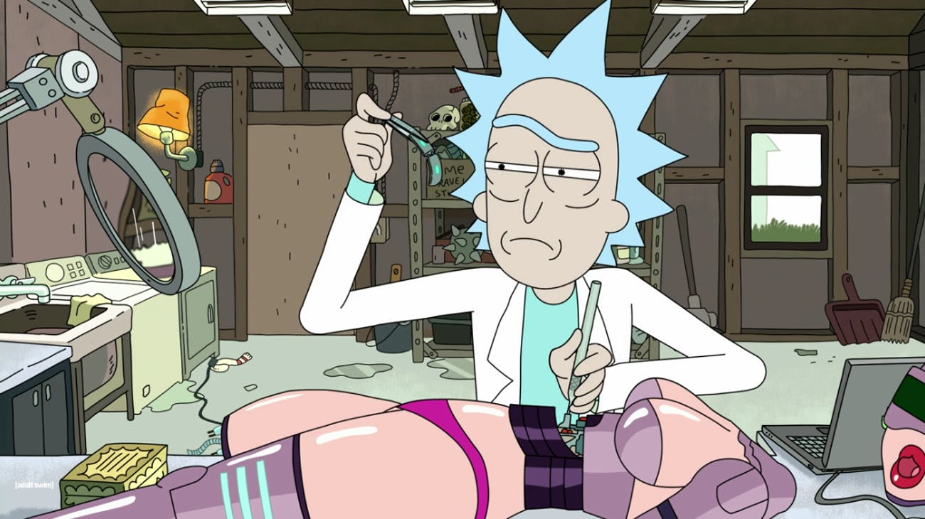 """Rick dissects the sex robot to trace its origins in """"Raising Gazorpazorp."""""""